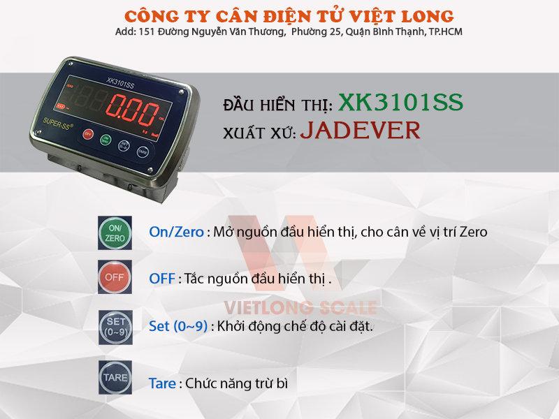 Cân sàn inox XK3101SS 11